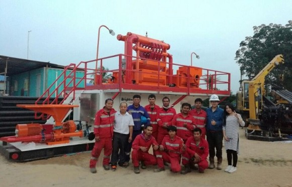 500GPM非开挖泥浆回收系统(泰国项目)