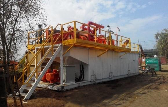 350GPM非开挖泥浆回收系统(印度项目)