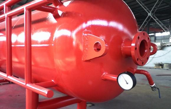 液气分离器顶部结构展示