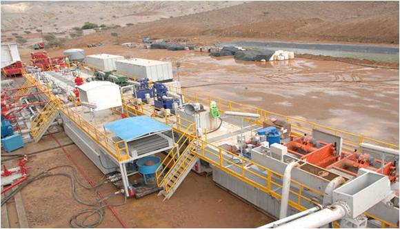 阿联酋泥浆净化系统现场