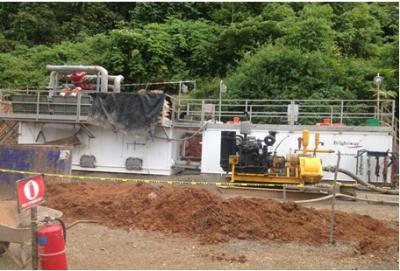 HDD泥浆循环回收系统国外非开挖现场一