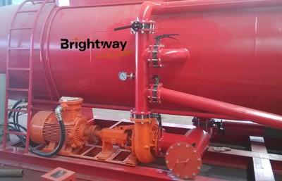 水化罐动力系统砂泵连接