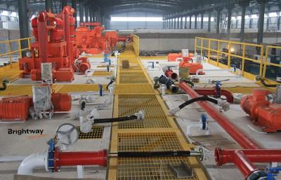 固控设备组装完毕的钻井固控系统
