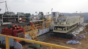 钻井废弃物处理系统随钻处理现场