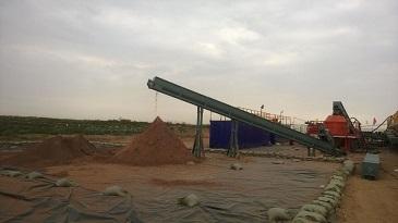 水基泥浆经过甩干机处理效果