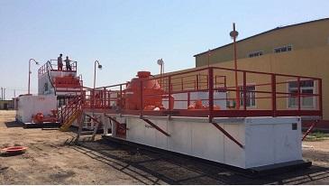 钻井废弃油泥处理系统现场