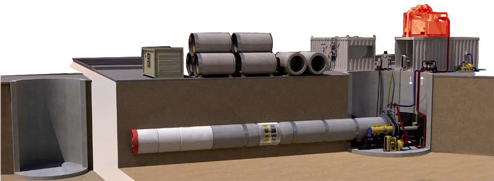 盾构泥水分离系统工作三维演示图